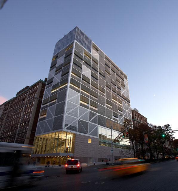 Northwest Corner Building at dusk