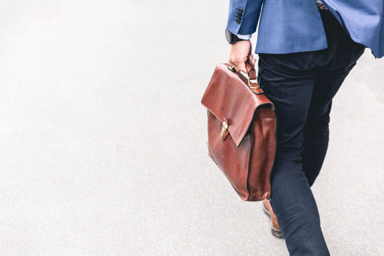 Man walking with briefcase